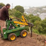 Kanga drilling hillside